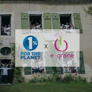 Notre projet, sélectionné par 1% for the planet !