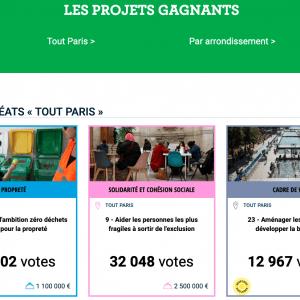 LES 2 PROJETS E-GRAINE SONT LAUREATS AU BUDGET PARTICIPATIF DE PARIS !!!