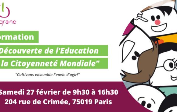 e-graine Île-de-France vous propose une Formation « Découverte de l'Éducation à la Citoyenneté Mondiale » le 27 février