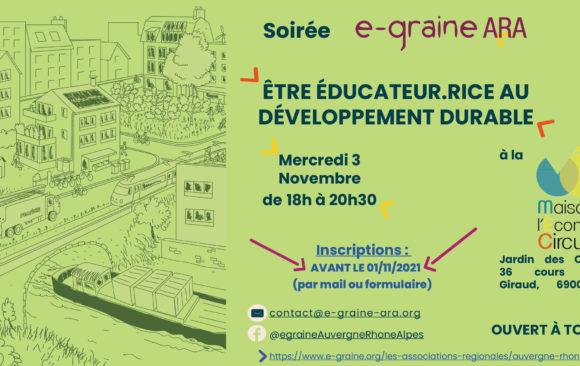 Etre éducateur.rice au Développement Durable par E-graine ARA