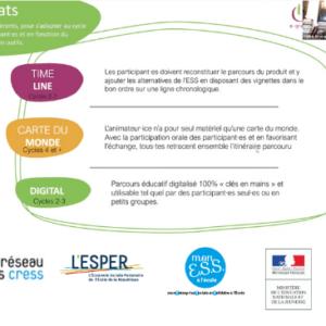 Webinaire CRESS / ESPER : e-graine a présenté des outils pédagogiques pour sensibiliser à l'ESS à l'école
